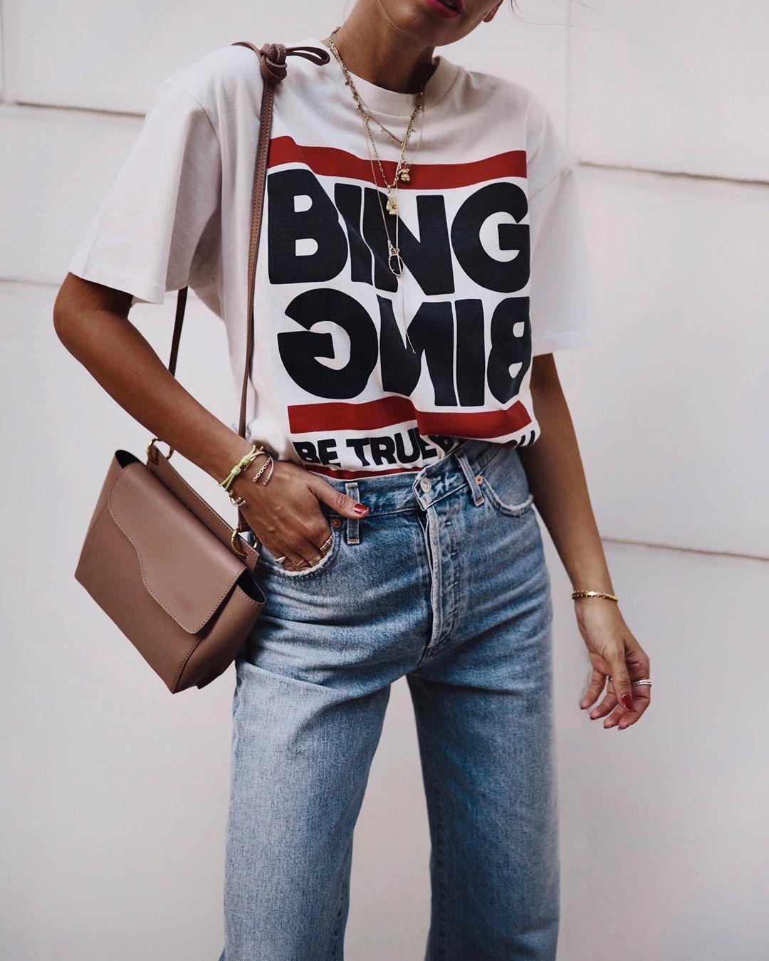 джинсы и футболка фото 11