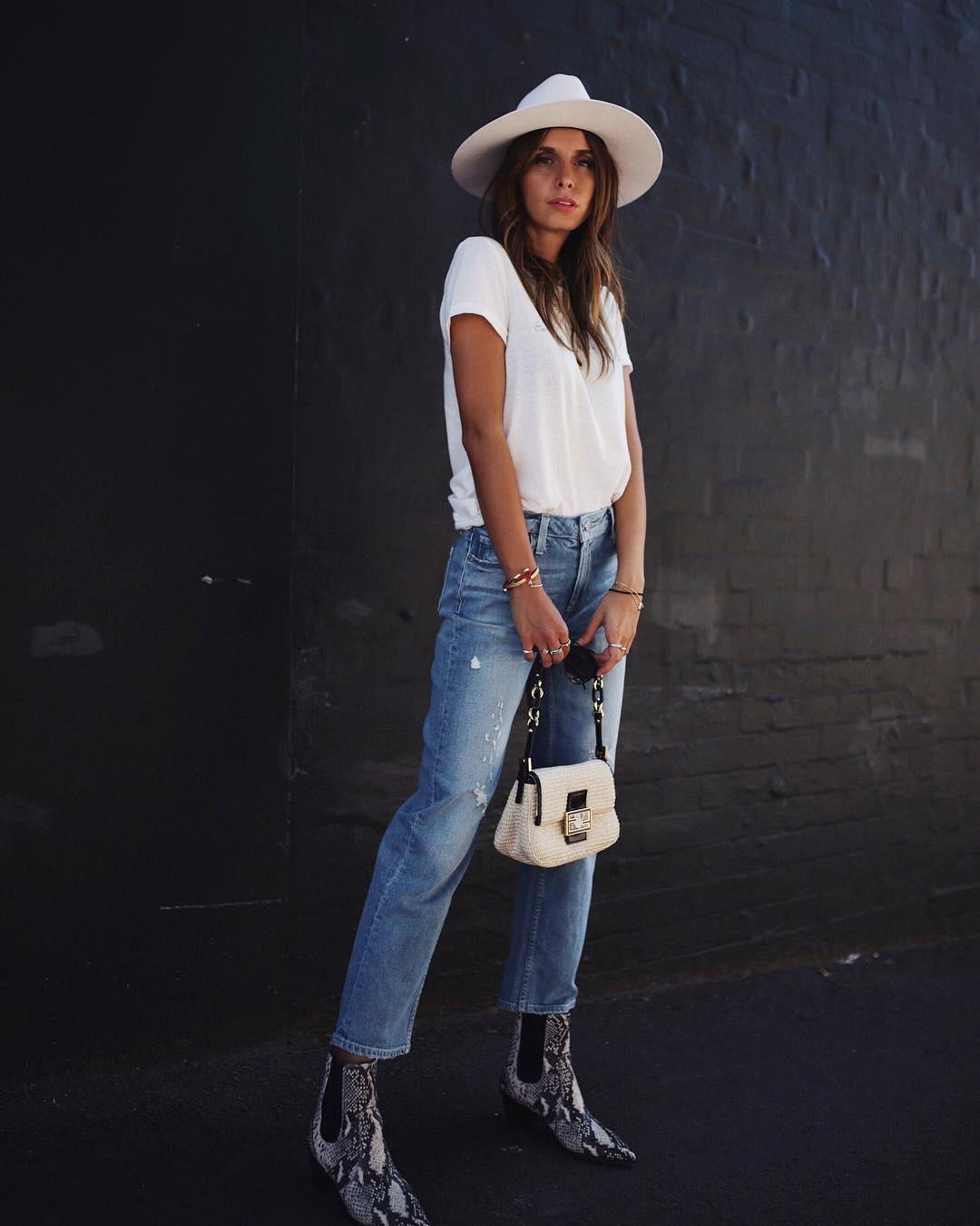 джинсы и футболка фото 5