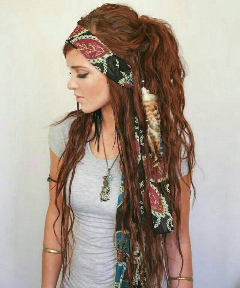 длинные волосы с косой челкой фото 20