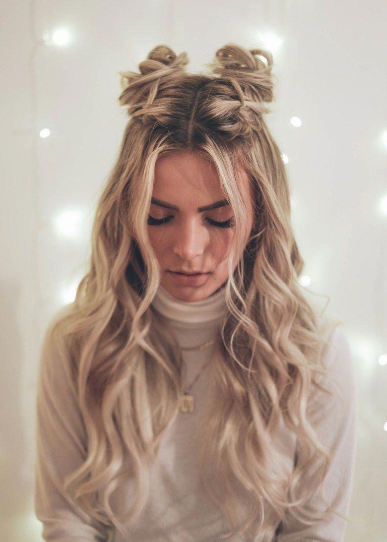длинные волосы с косой челкой фото 17