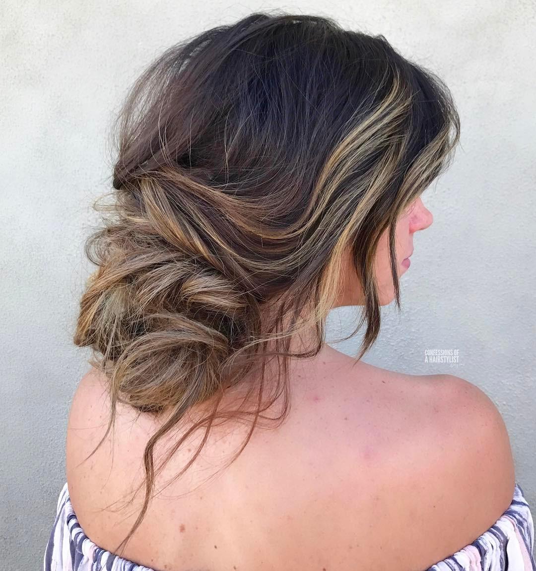 длинные волосы с косой челкой фото 11