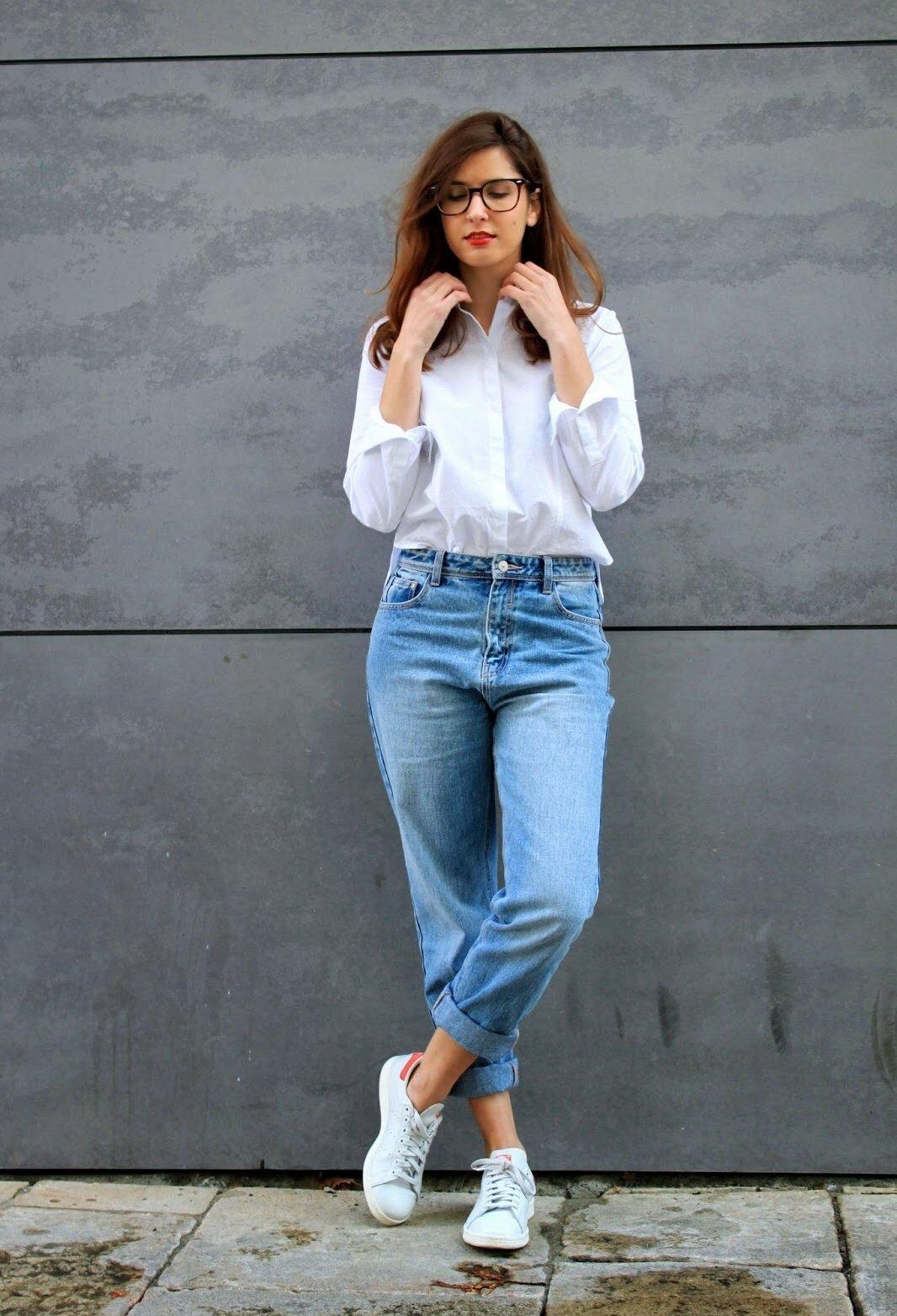 с чем носить джинсы бойфренды фото 6