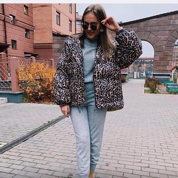 леопардовая куртка фото 4