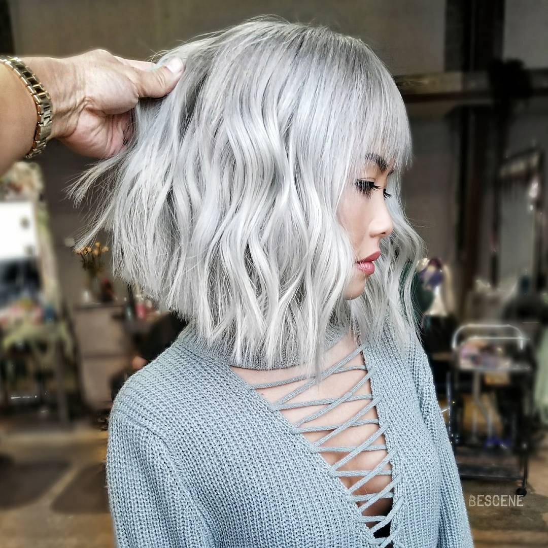 челка на средние волосы фото 4