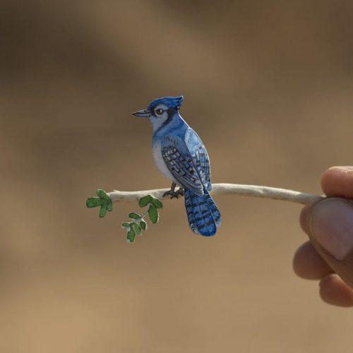 kroshechnye bumazhnye ptichki kotorye porazhajut voobrazhenie