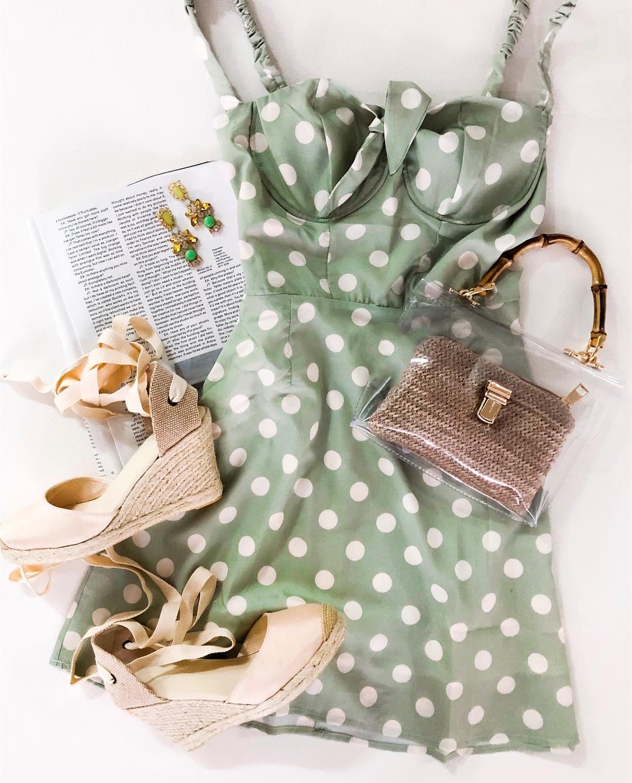 Платье в горошек фото 1