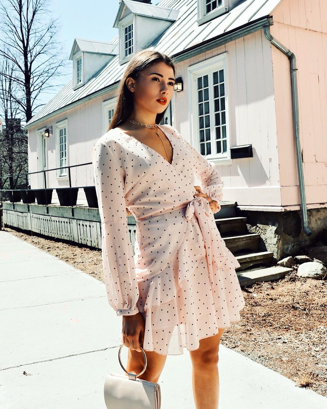 Платье в горошек фото 3
