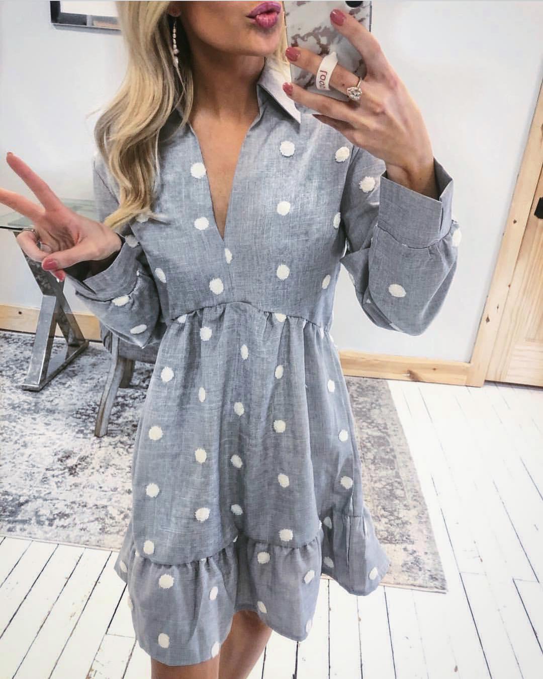 Платье в горошек фото 2