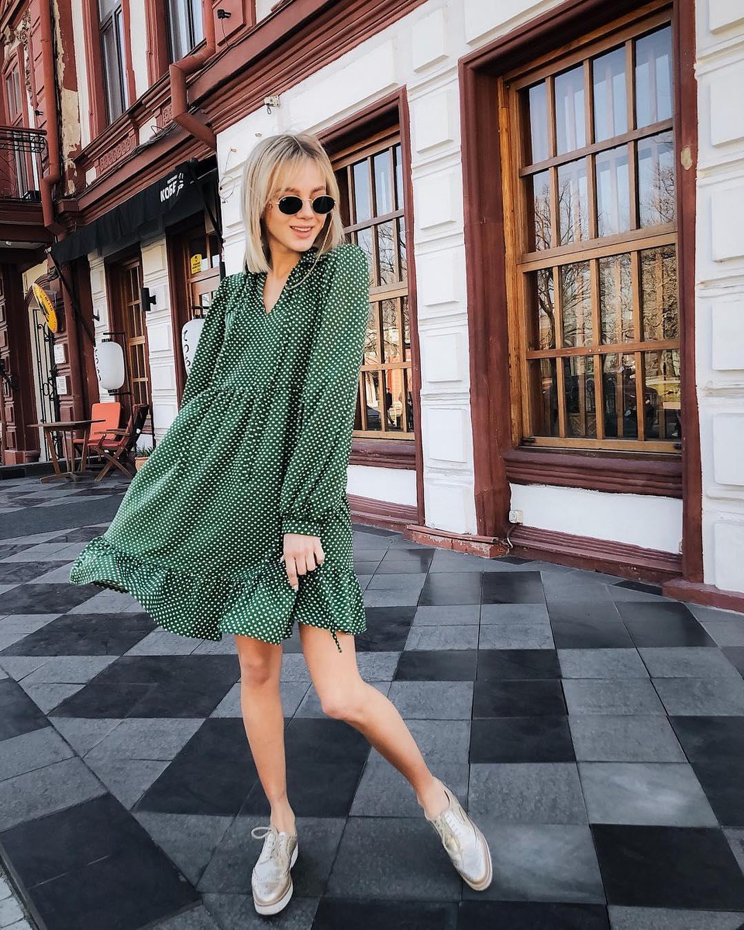 Платье в горошек фото 10