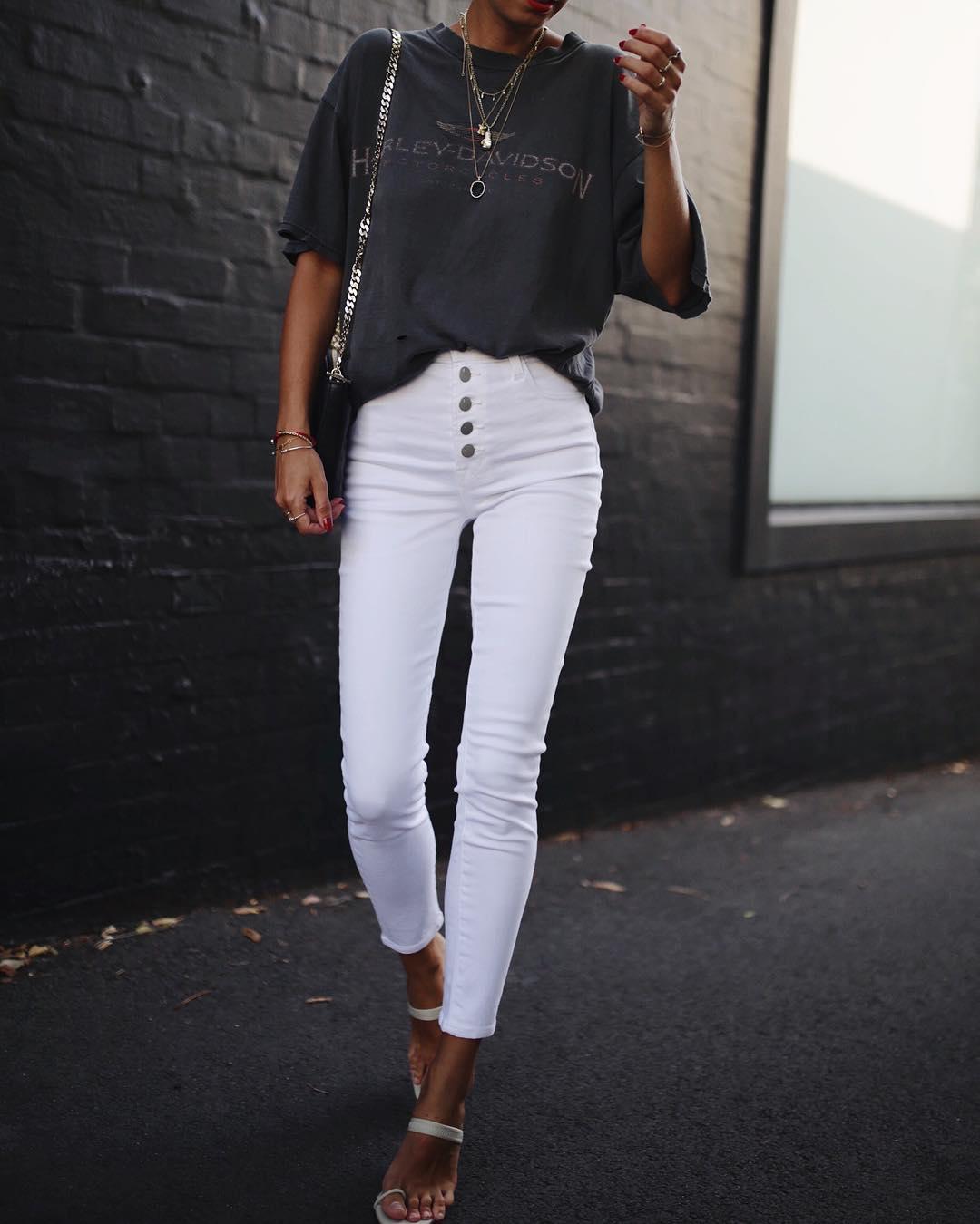 белые джинсы фото 3