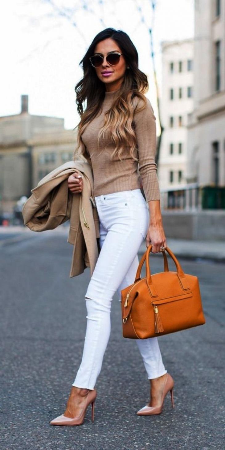 белые джинсы фото 12