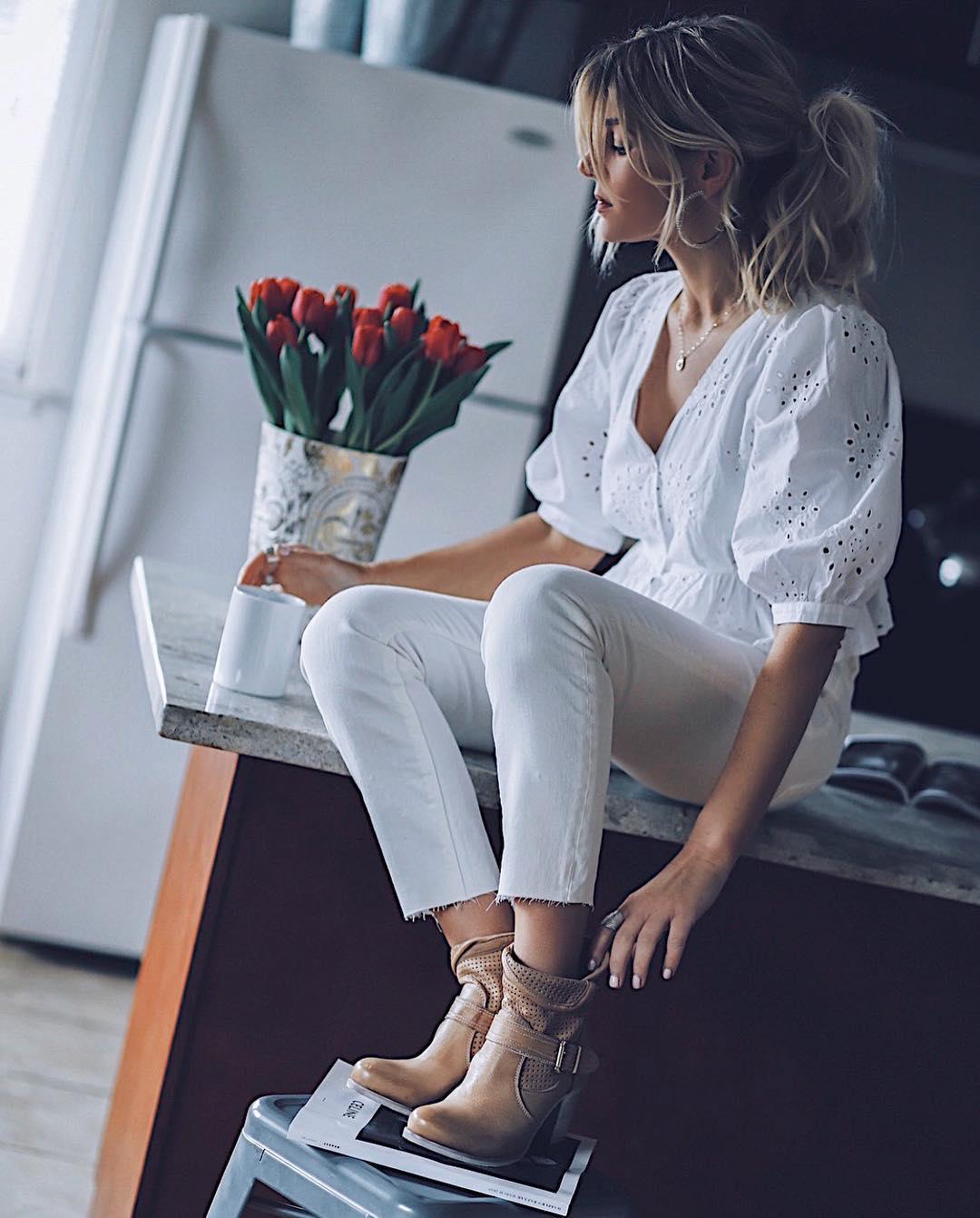 белые джинсы фото 6