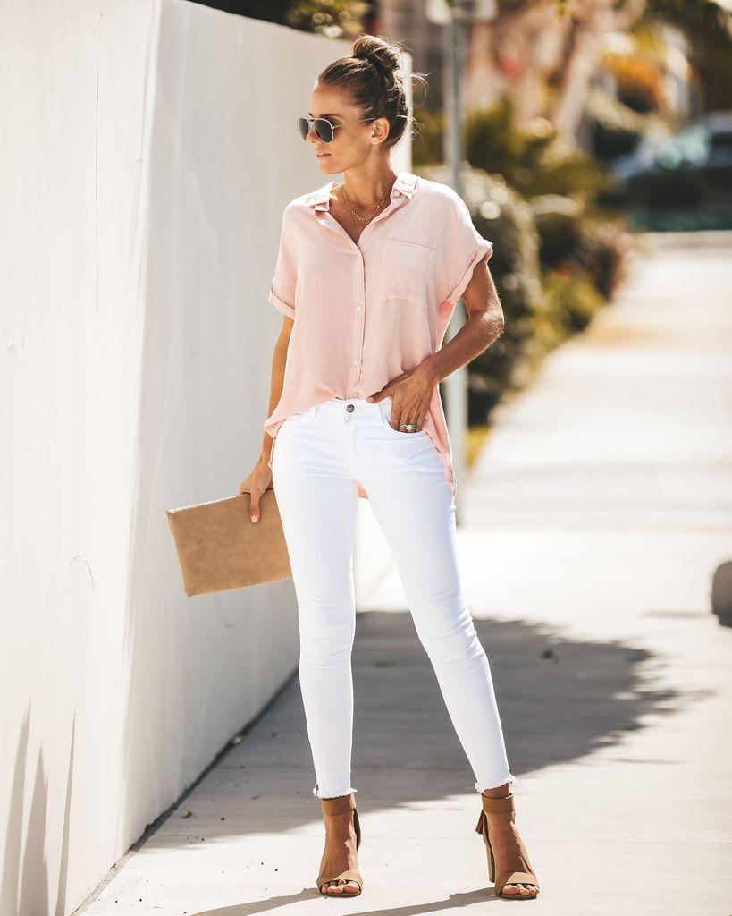 белые джинсы фото 8