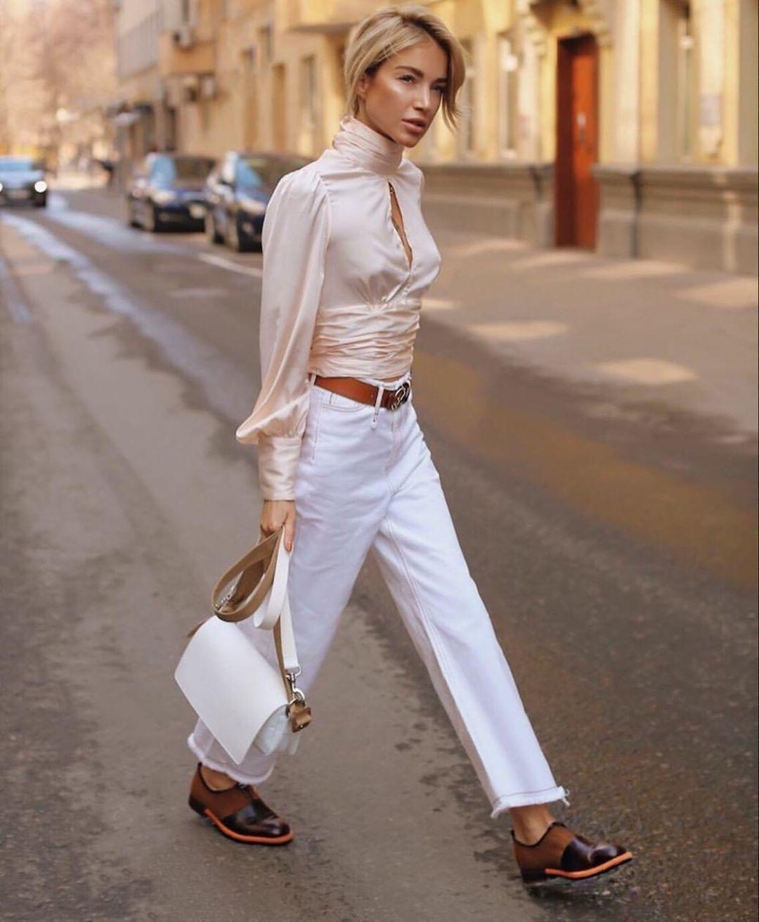 белые джинсы фото 7