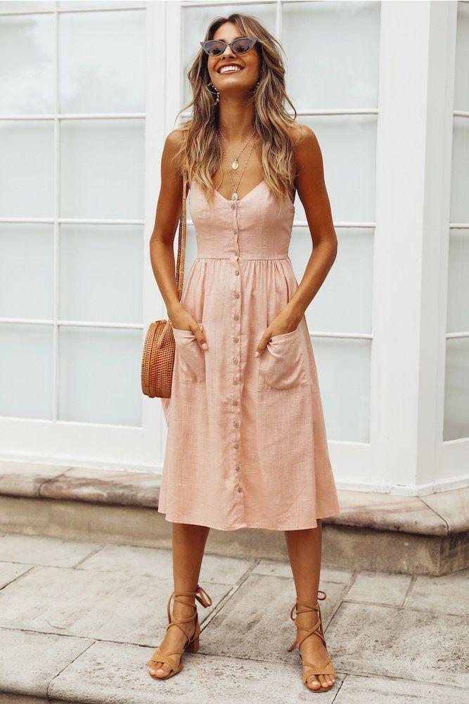 Пудровое платье фото 14