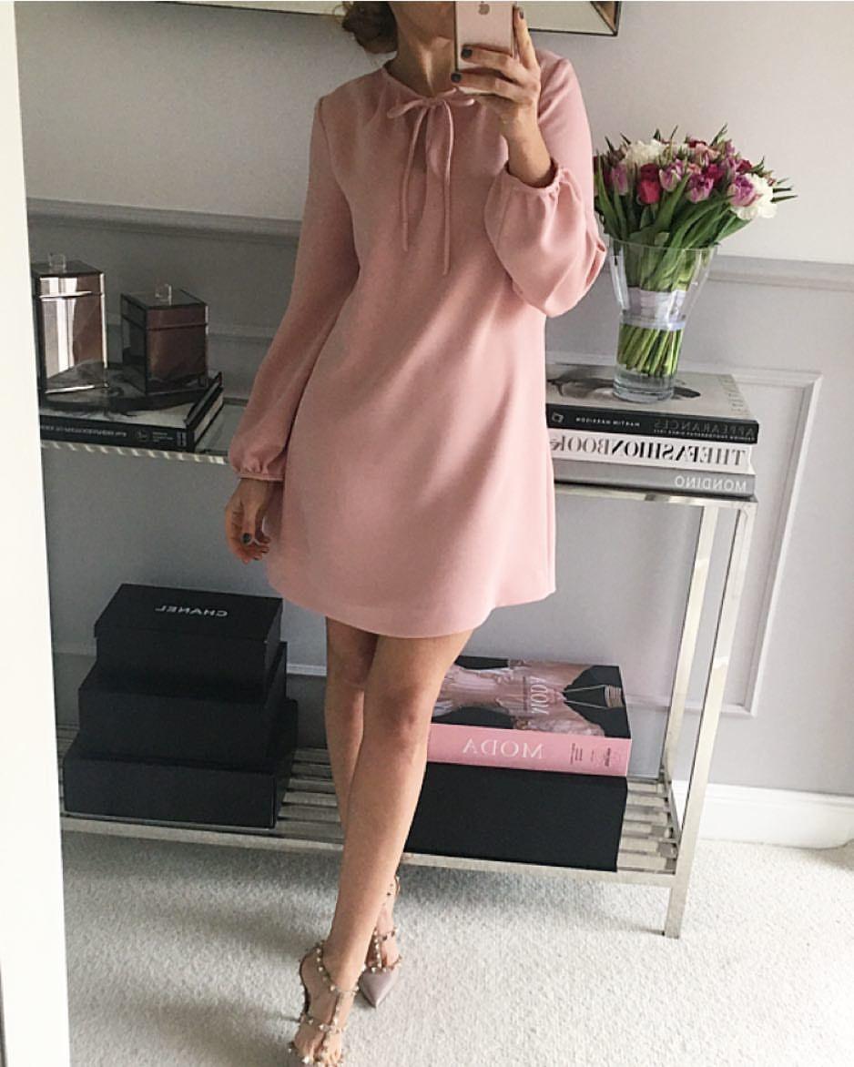 Пудровое платье фото 12