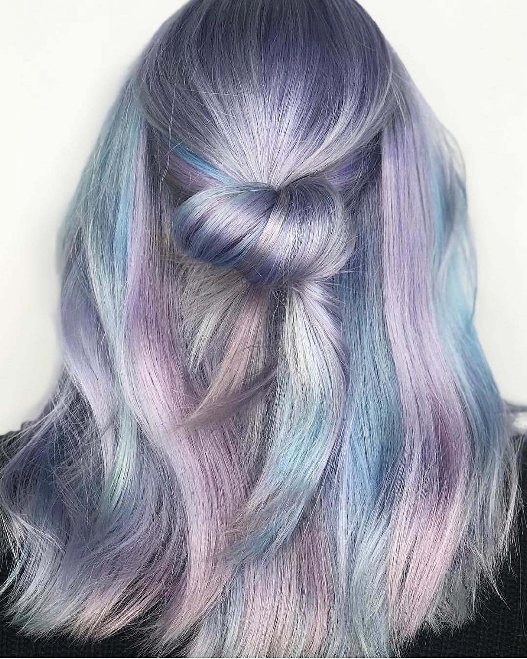 Цвет волос металлик фото 10
