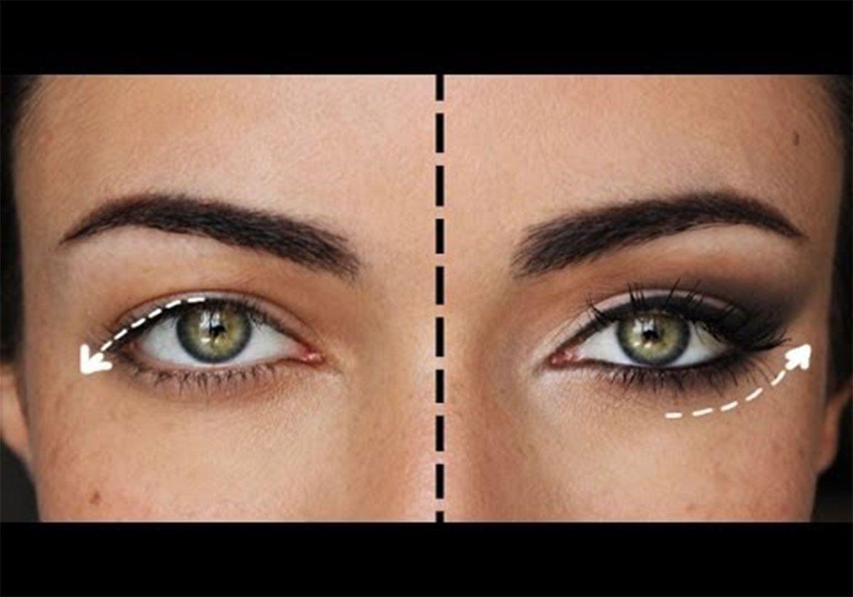 Макияж для опущенных глаз фото 4