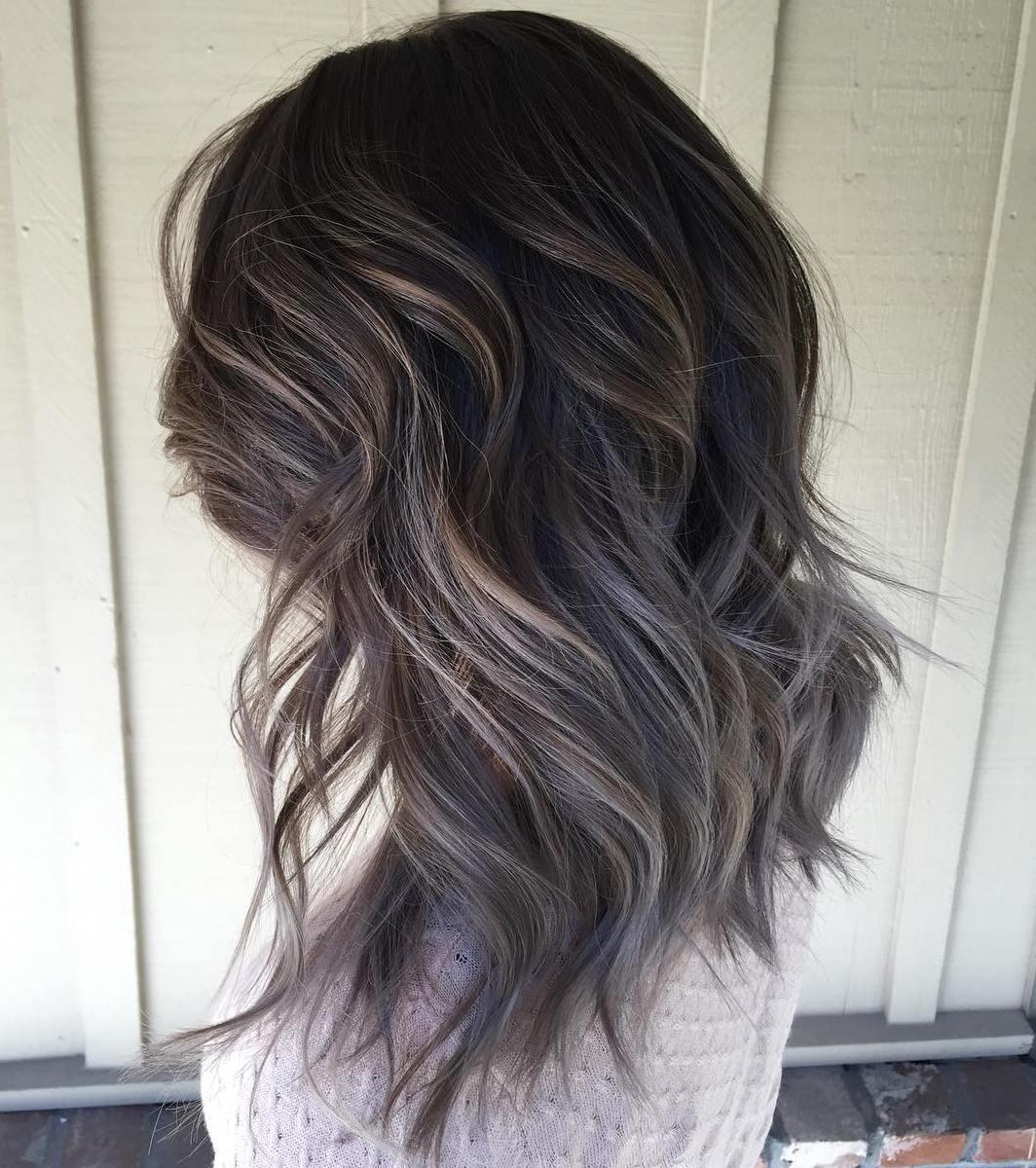 окрашивание тёмно-каштановых волос фото 2