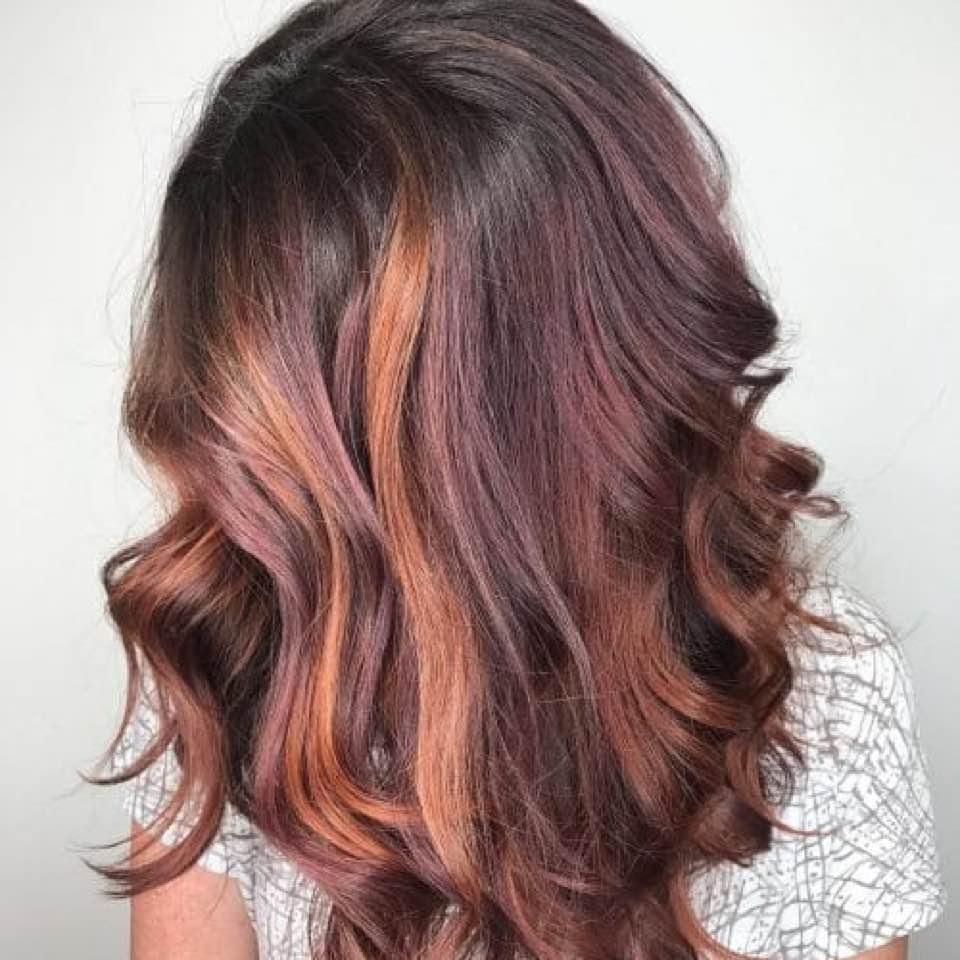 окрашивание тёмно-каштановых волос фото 7