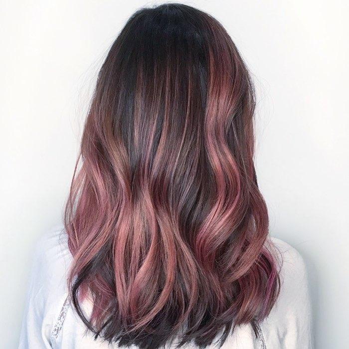 окрашивание тёмно-каштановых волос фото 11