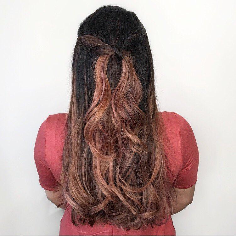 окрашивание тёмно-каштановых волос фото 12