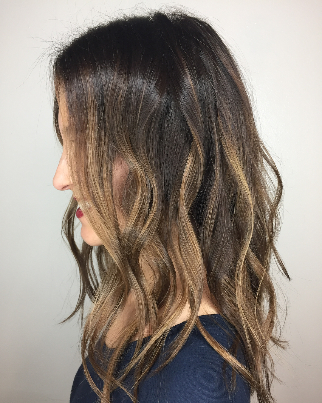 окрашивание тёмно-каштановых волос фото 15