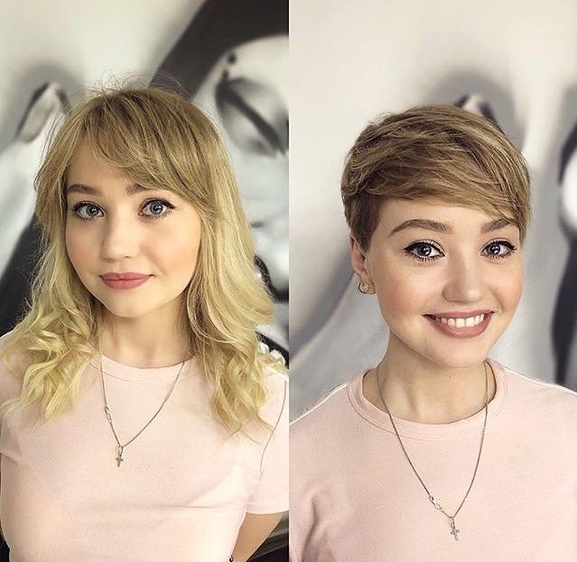 причёски для круглой формы лица фото 14