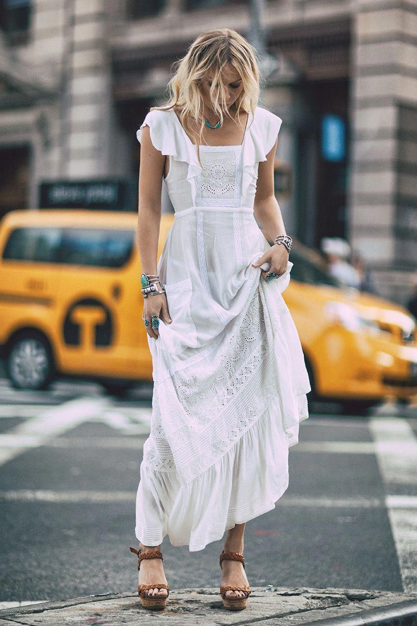 Длинные летние платья фото 2