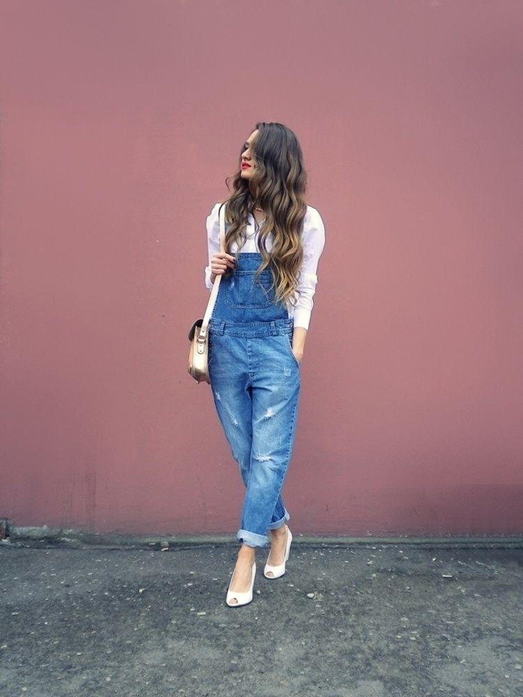 Летние джинсовые комбинезоны 2019 фото 5