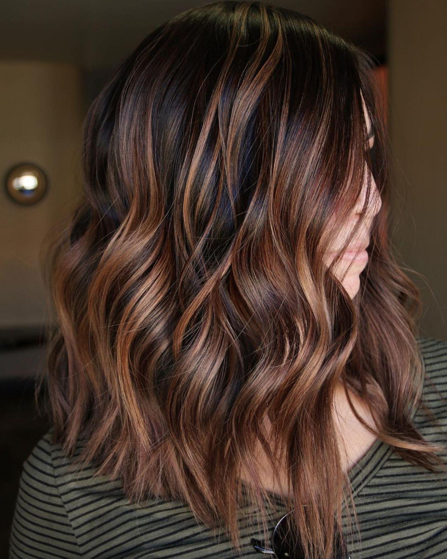 Каштановый цвет волос фото 13