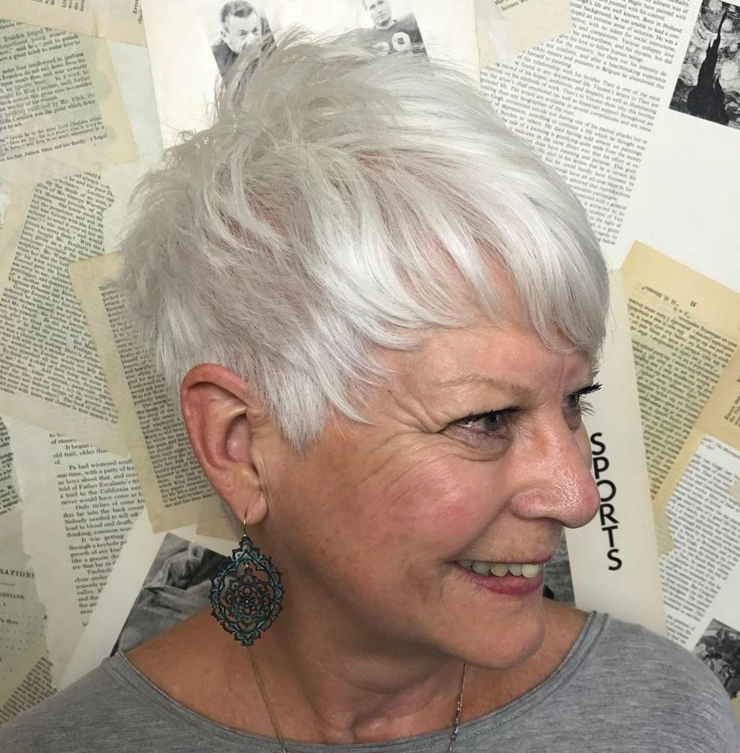 короткие стрижки для тонких волос фото 8
