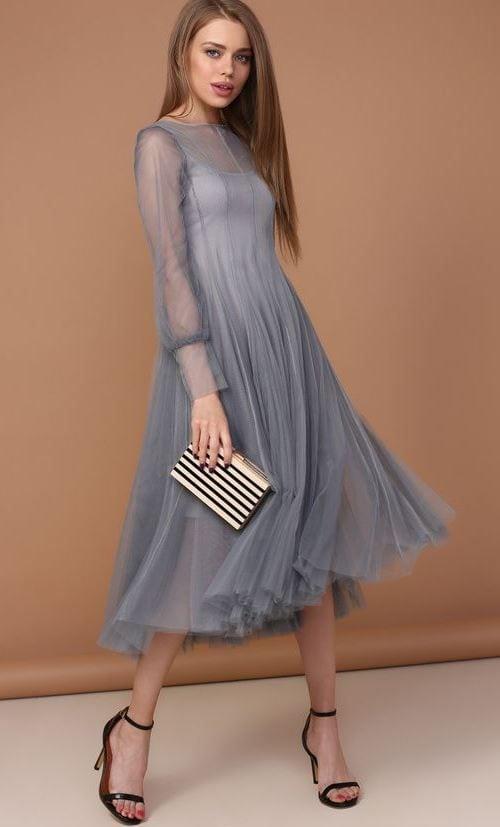 не скучные серые платья изысканные идеи для леди