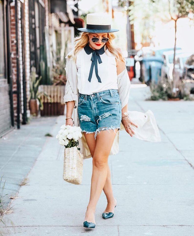 с чем носить шорты летом женщинам после 40-50 лет фото 7