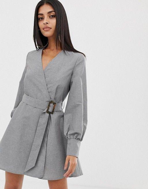 Совсем не скучные серые платья: изысканные идеи для леди