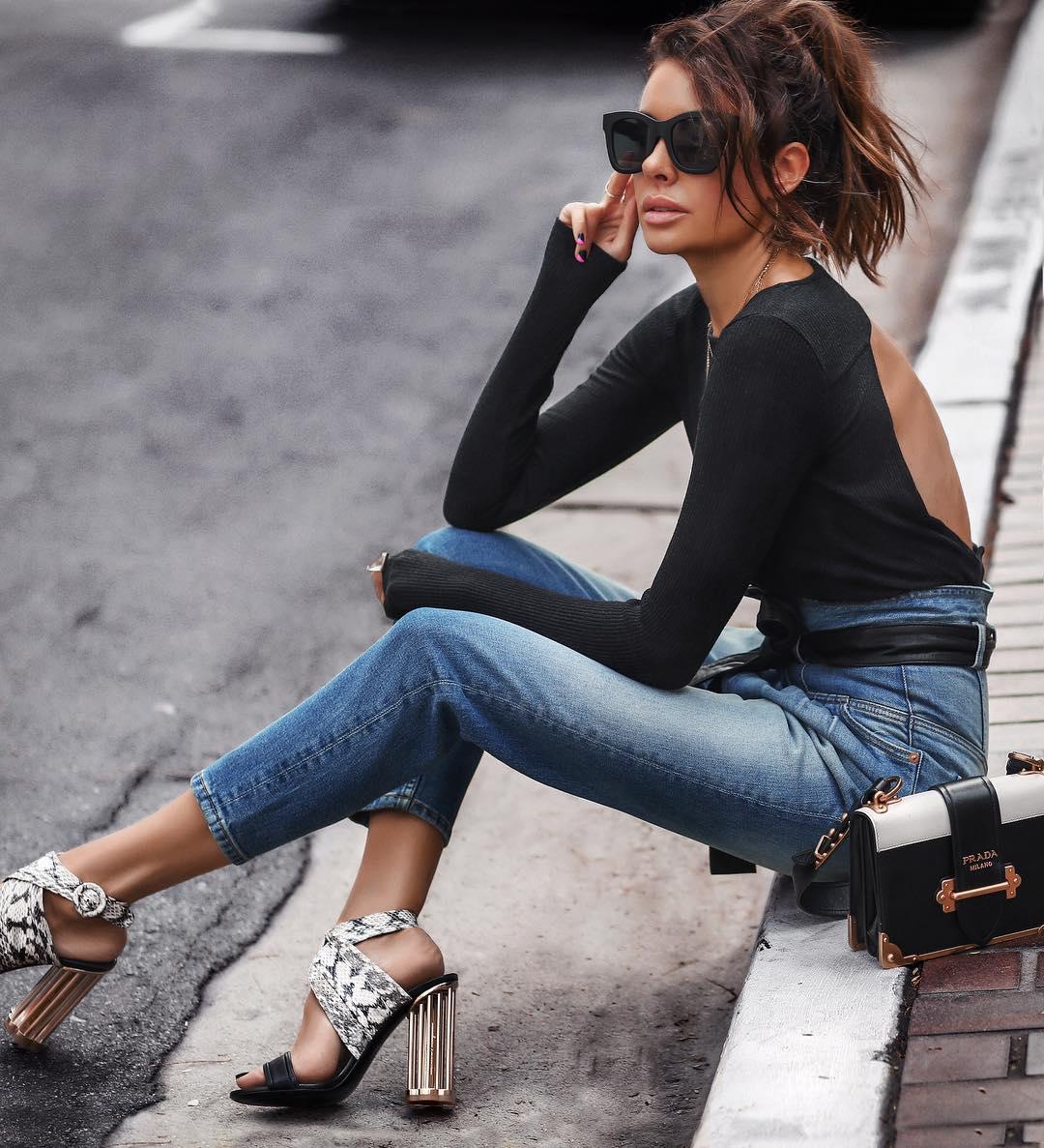 джинсы с высокой талией фото 4