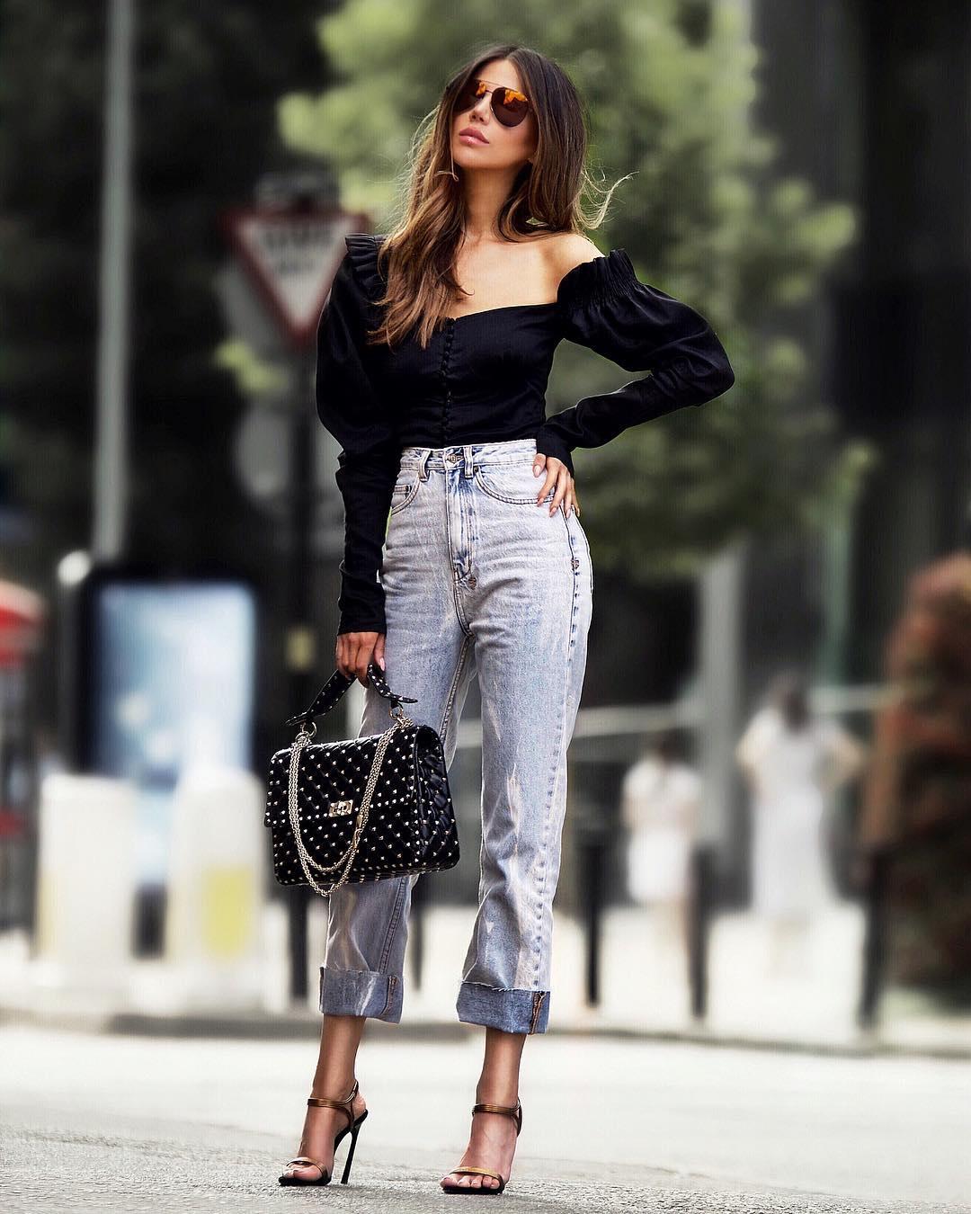 джинсы с высокой талией фото 10