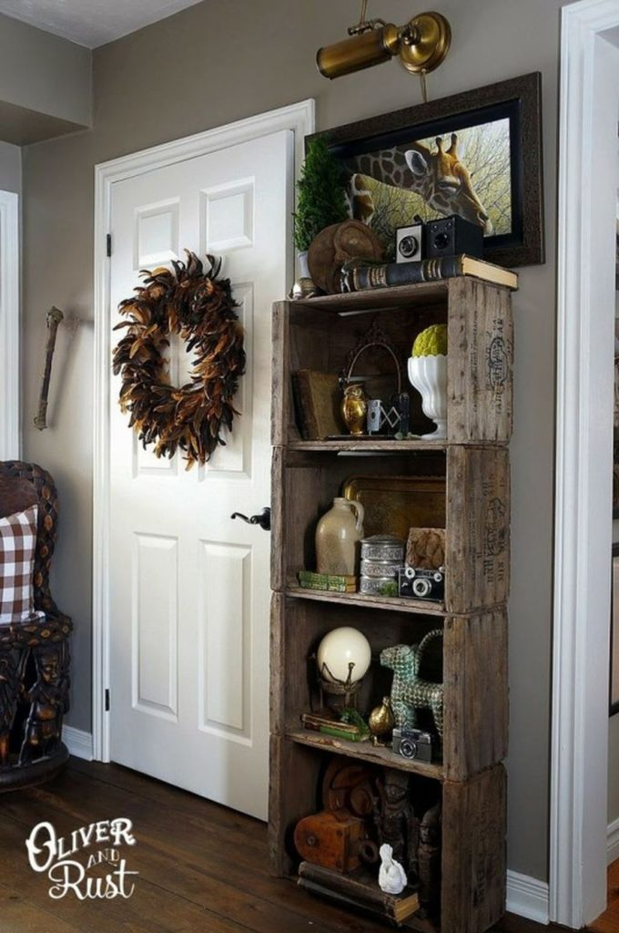 Чертовски крутые способы использовать деревянные ящики в интерьере