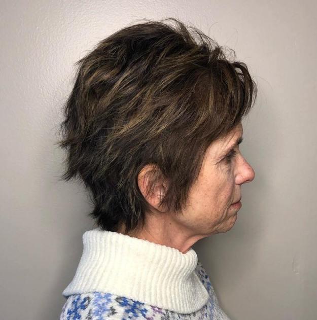 стрижки для женщин старше 60 лет фото 8