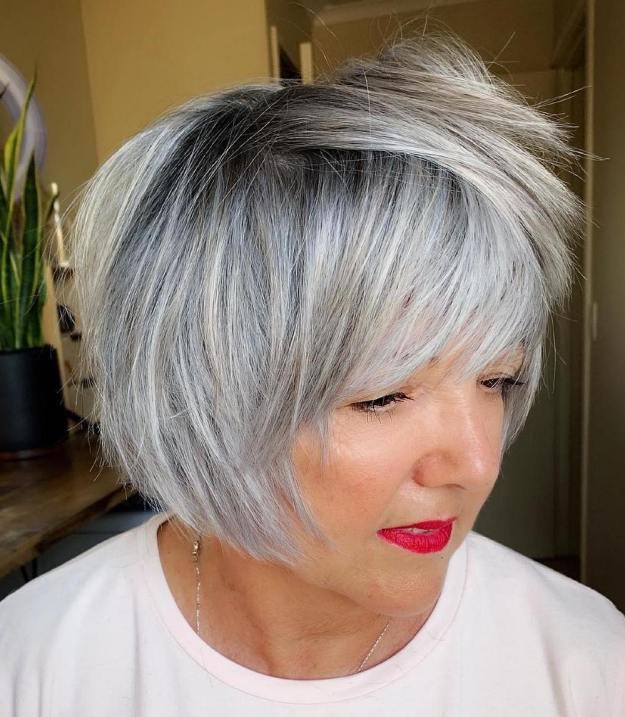 стрижки для женщин старше 60 лет фото 9