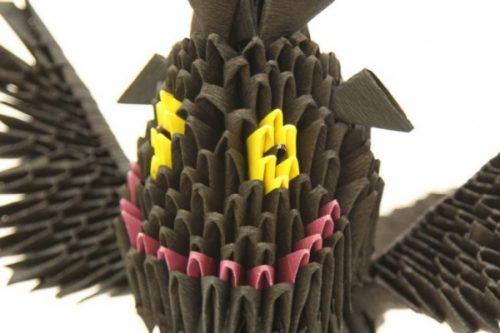 Дракончик в технике модульного оригами