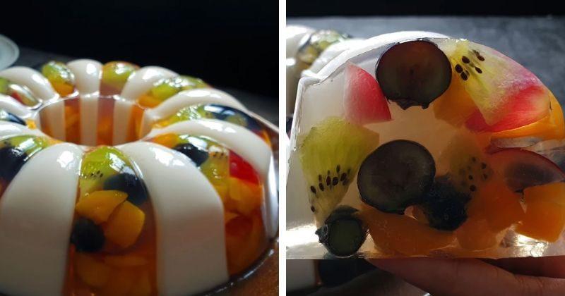 svezhij i letnij desert krasivyj fruktovyj tort zhele