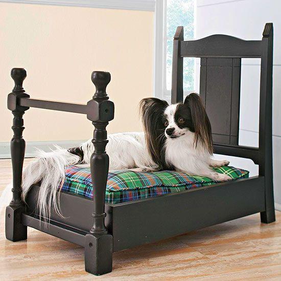Кроватка для собаки из старого стула
