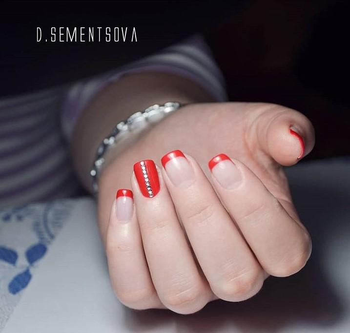 красный френч фото 13