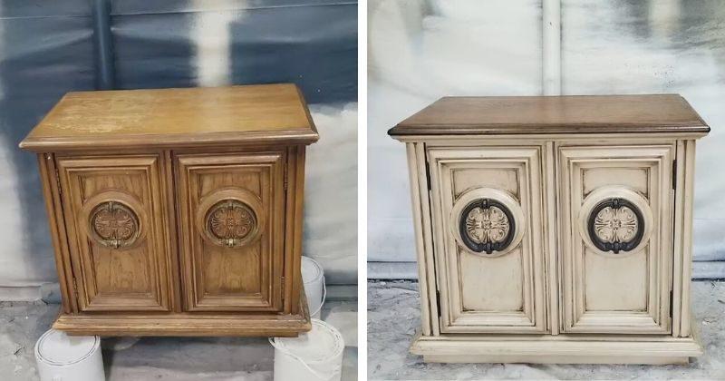 vintazhnoe obnovlenie starinnoj tumbochki. ideja dostojnaja povtorenija