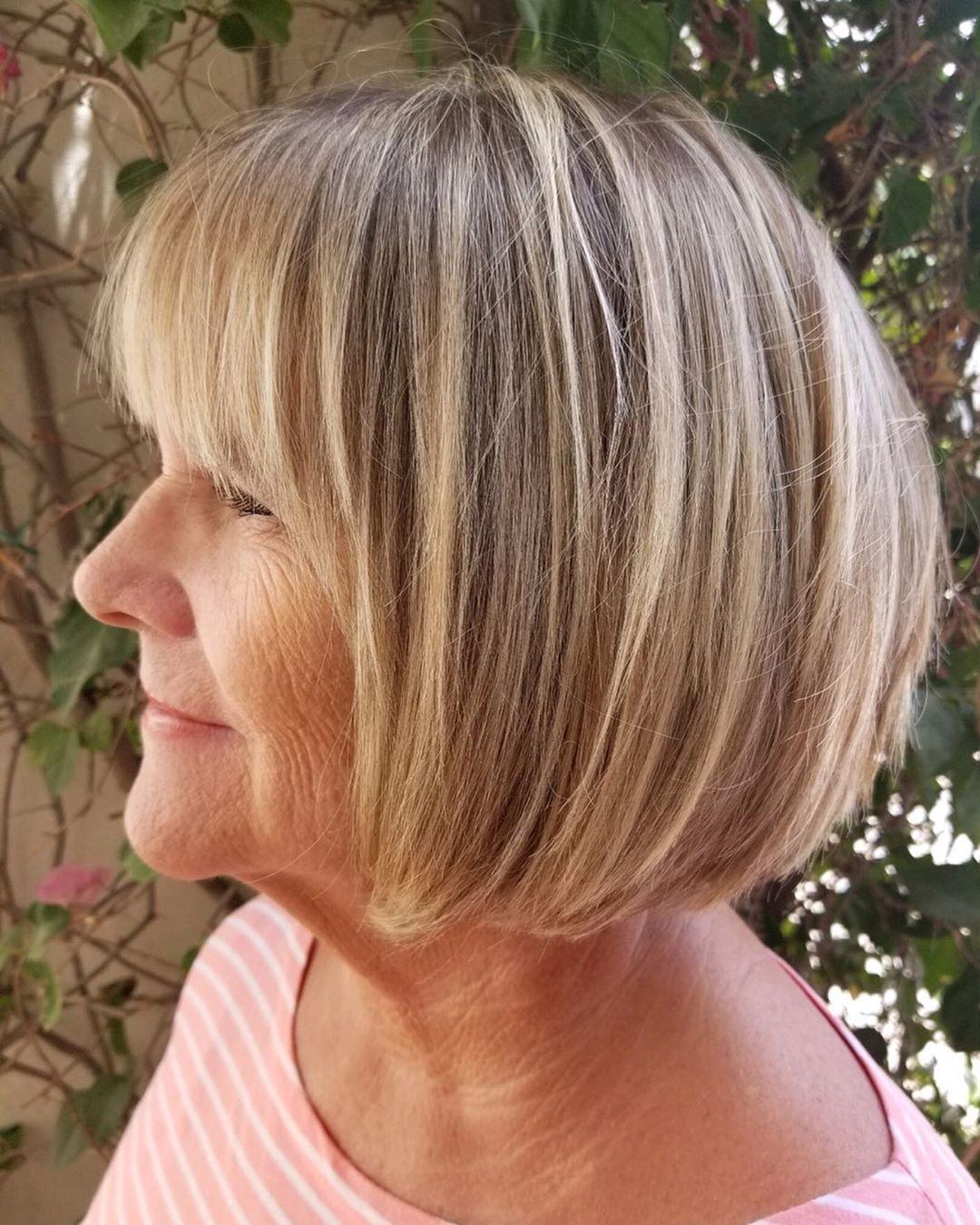 Стрижки после 50 лет на тонкие волосы фото 9