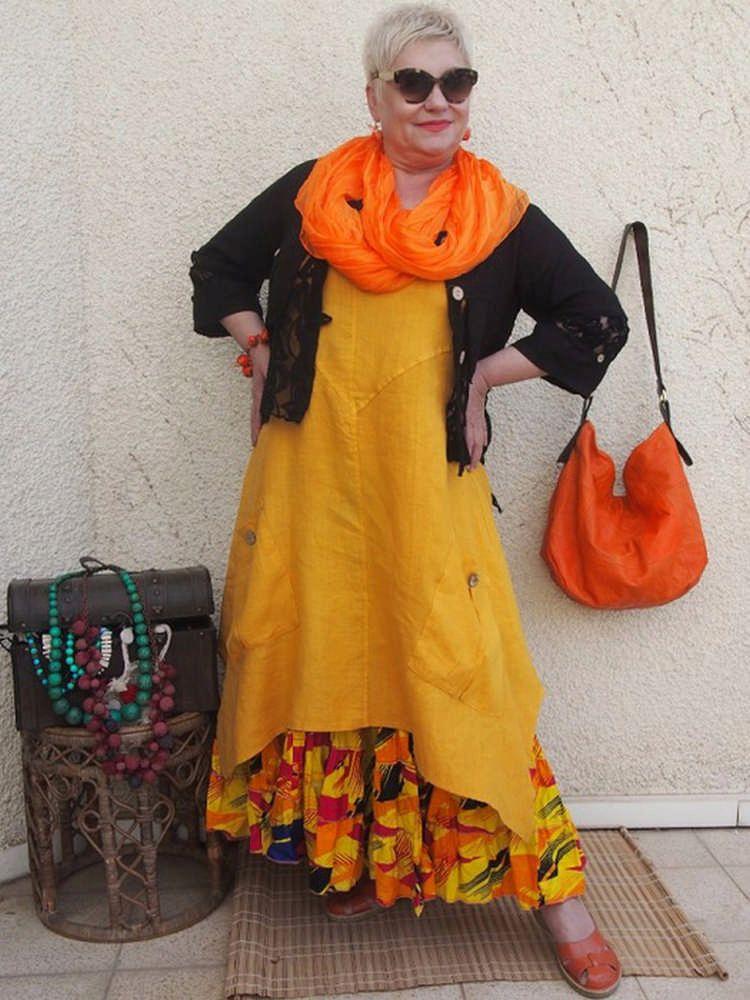 осенний бохо стиль для женщин 40-50 лет фото 1