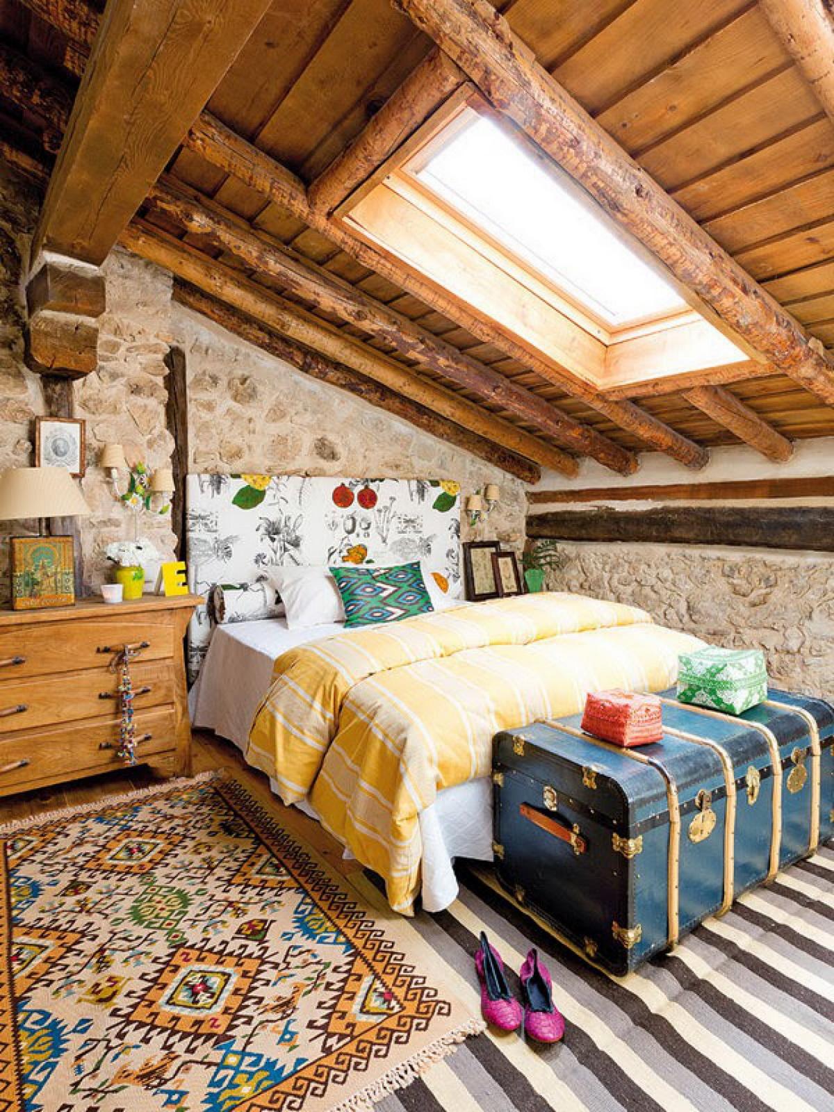Идеи дизайна спальни на мансарде фото 4