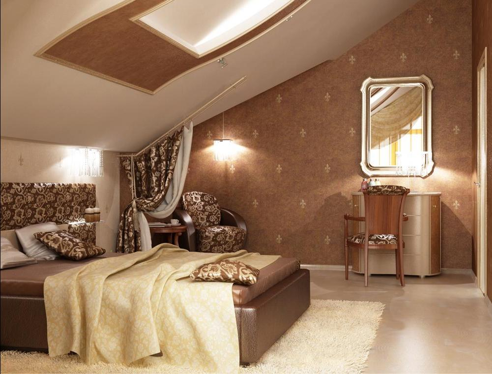 Идеи дизайна спальни на мансарде фото 18