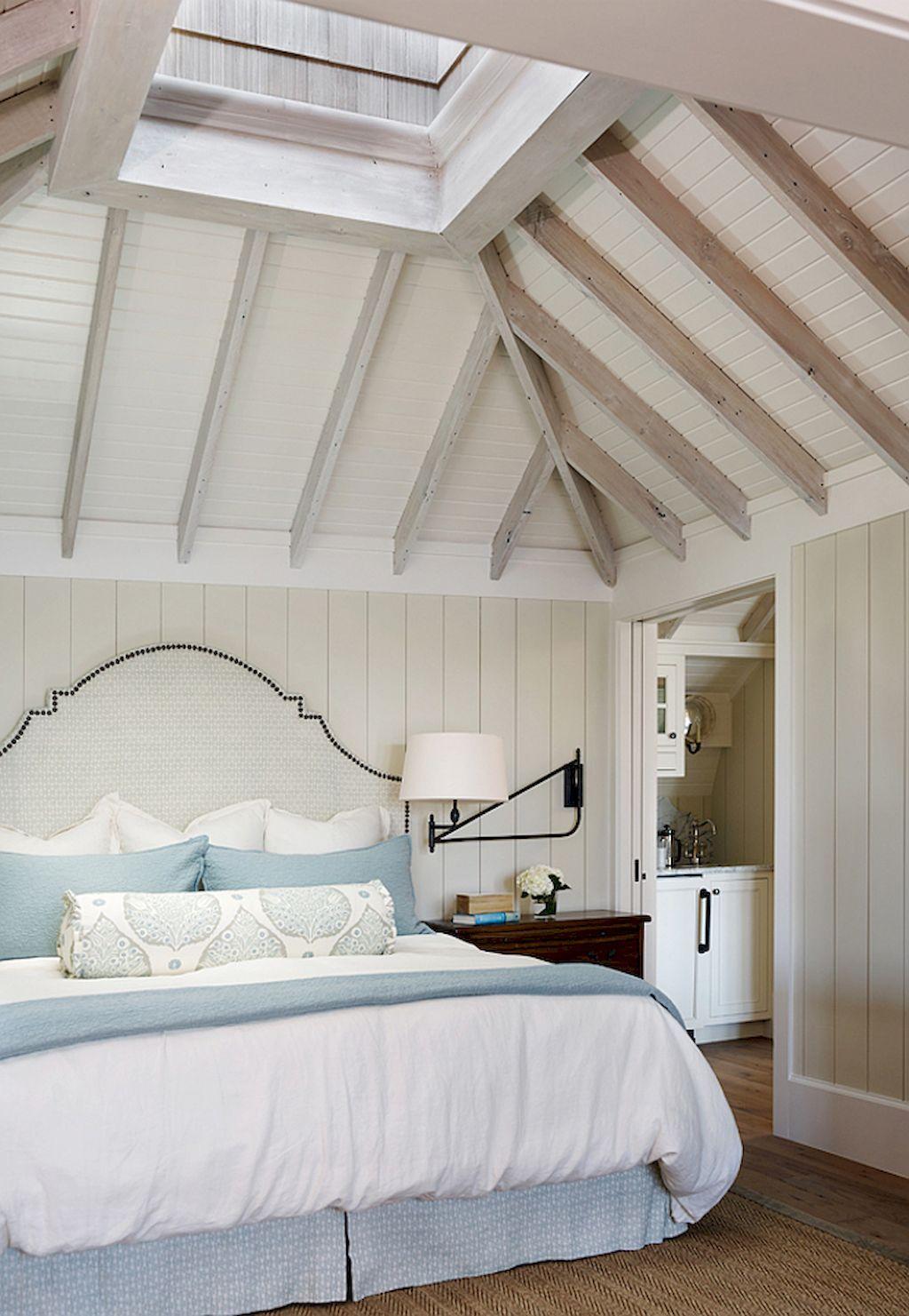 Идеи дизайна спальни на мансарде фото 8